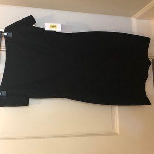 Black off shoulder dress. NWT